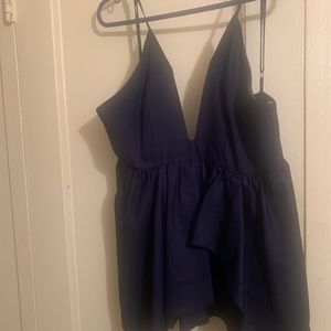 Navy blue romper .